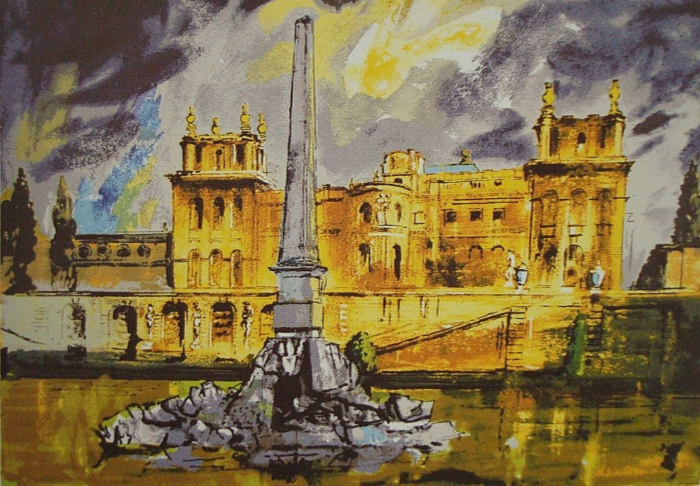 Duchene Fountain, Blenheim | John Piper