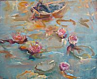 Lilies at the Thames and Severn Canal | June Redfern