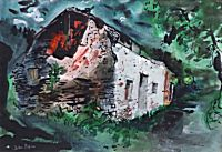 Ruin on the Way to Meidrim, Carmarthenshire | John Piper