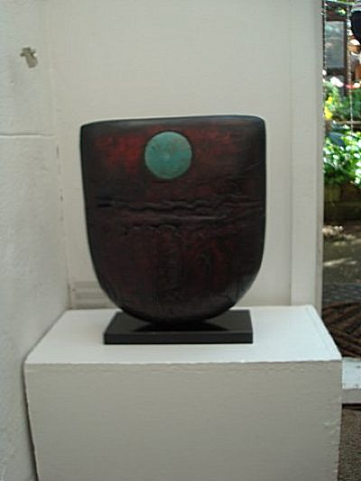 Red Bow with Copper Disc | Peter Hayes