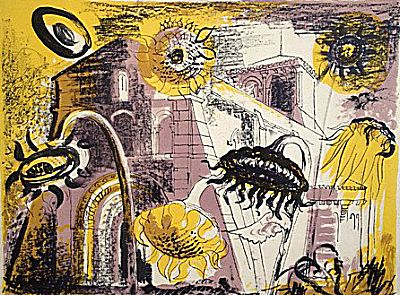 Sunflowers at Marignac | John Piper