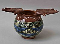 Large Bowl with Hands | Prue Piper
