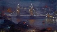 Nocturne with a Rising Mist: View of the Thames from Monument | Matthew Draper