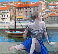Harbour Wall: Collioure | George Donald