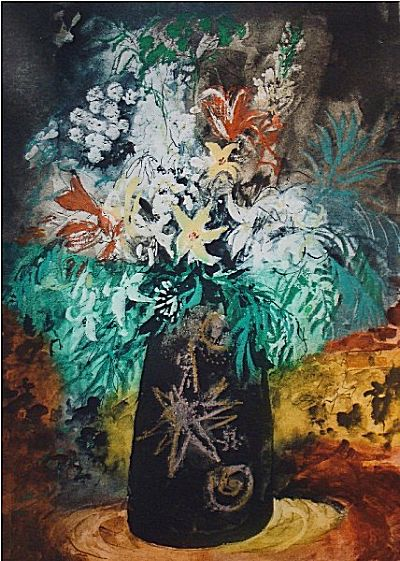 Flowers in a Black Pot | John Piper