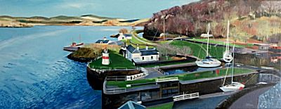 Crinan from Above | Lesley Banks