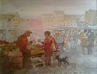 A Corner of the Boulogne Market | Roland Batchelor
