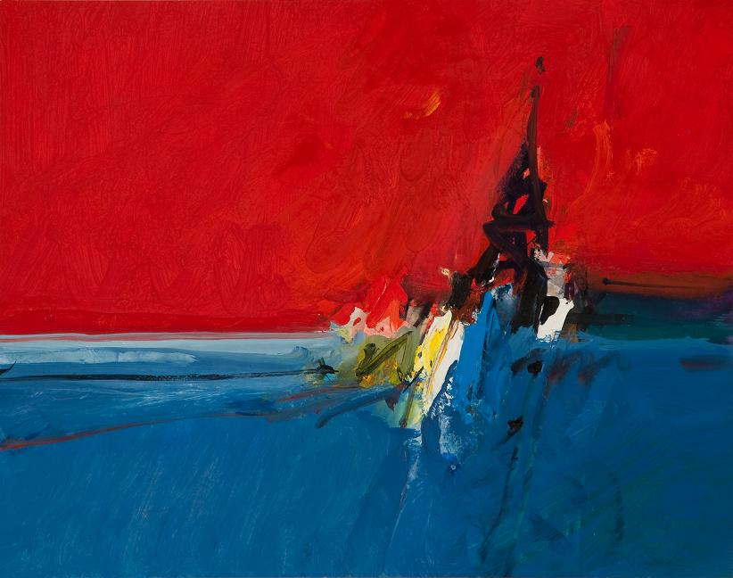 Seascape, Red Sky | Donald Hamilton Fraser