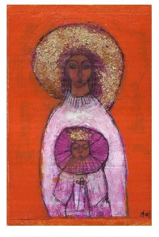 Indian Madonna with Orange | Marj Bond