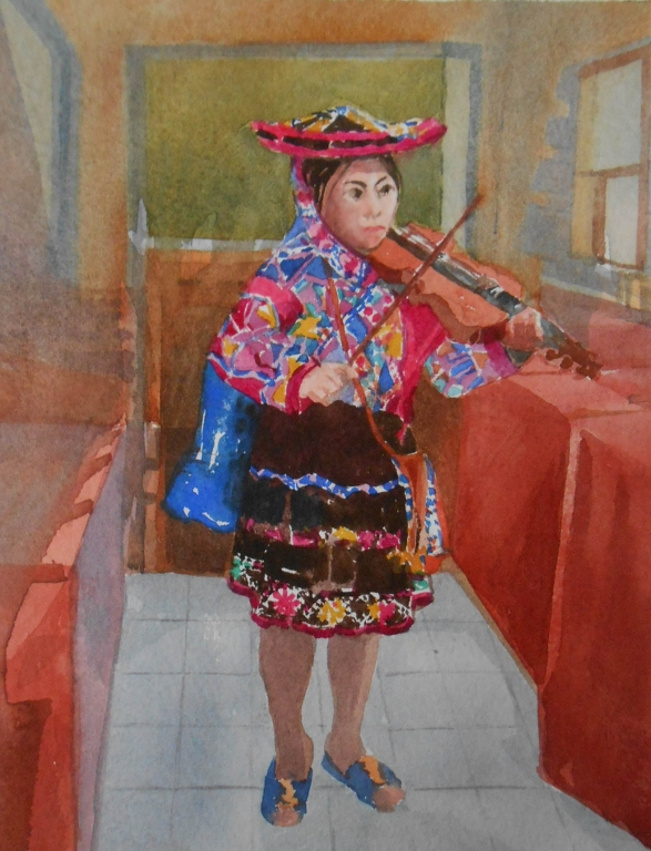 Peruvian Child Violinist | Olwen Jones