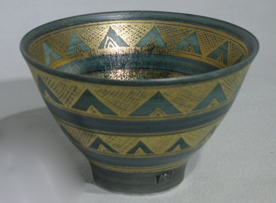Dark Green Conical Bowl | Mary Rich